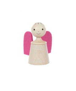 Wooden musical guardian angel in pink - SINA Spielzeug