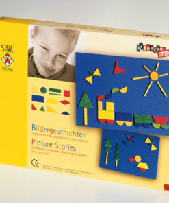 Wooden picture stories game / Froebel creative activity and playing item - SINA Spielzeug