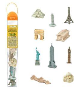 Around the world TOOB / Realistic miniature landmark figurines Montessori learning toy- Safari Ltd