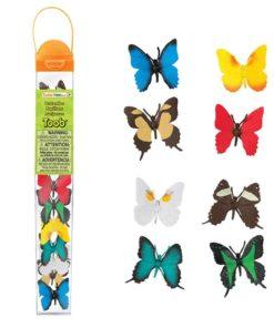 Butterflies TOOB / Realistic miniature butterfly figurines Montessori learning toy- Safari Ltd