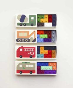 Cars pocket crayons : Non-toxic lego building bricks bean wax crayons - Goober