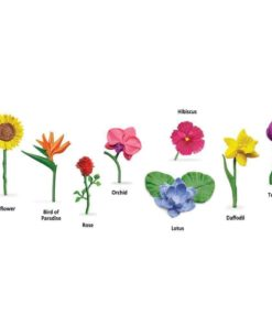 Flowers TOOB : Realistic miniature flowers figurines Montessori learning toy- Safari Ltd