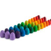 Mandala rainbow eggs Handmade sustainable wooden toy Grapat simple little things