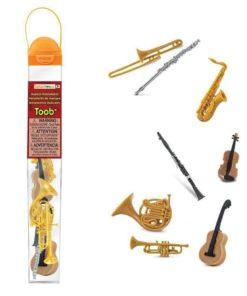 Musical instruments TOOB / Realistic miniature instrumentfigurines Montessori learning toy- Safari Ltd