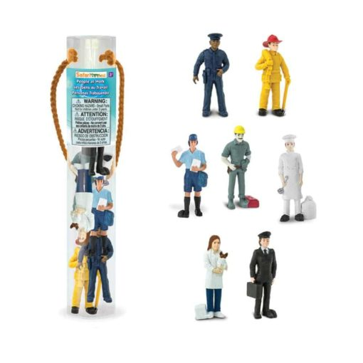 People at work designerTOOB / Realistic miniature professions themed figurines Montessori learning toy- Safari Ltd