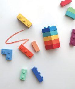 Pocket crayons non-toxic lego building bricks bean wax crayons Goober