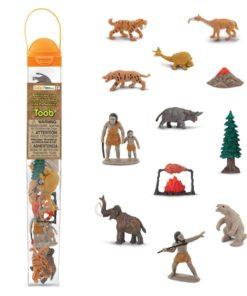 Prehistoric Life TOOB / Realistic miniature prehistoric figurines Montessori learning toy- Safari Ltd