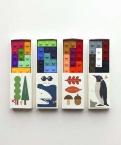 Seasons pocket lego building bricks Non-toxic bean wax crayons - Goober