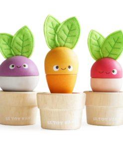 Stacking veggies / Wooden veggies themed stacking toy - Le Toy Van Petilou