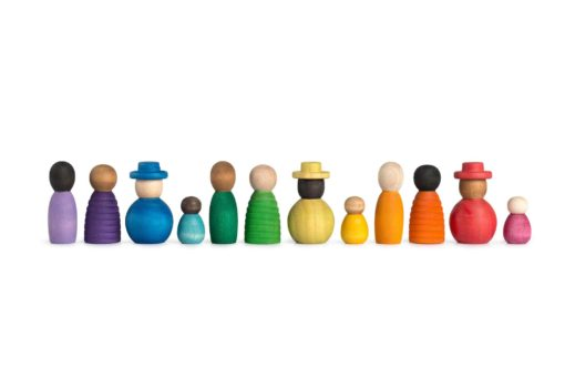Together Handmade sustainable open-ended wooden toy figures Joguines Grapat simple little things