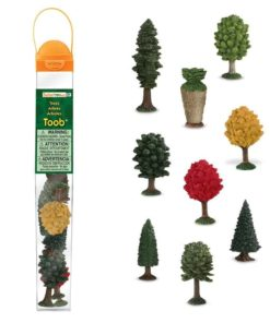 Trees TOOB / Realistic miniature trees figurines Montessori learning toy- Safari Ltd