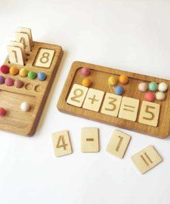 Planche à chiffres en bois - Threewood