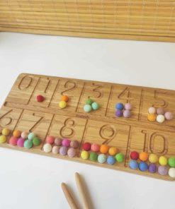 Tableau de traçage des chiffres en bois - Threewood