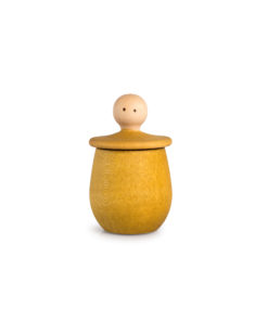 Yellow little things wish boxHandmade sustainable wooden toy - Grapat