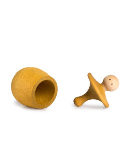 Yellow little things wish boxHandmade sustainable wooden toy Grapat simple little things