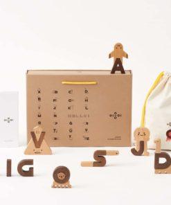 Handmade wooden learning blocks Alphabet play blocks - Oioiooi