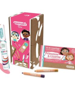 Bio face paint box for children in enchanted worlds colours - Namaki Cosmetics