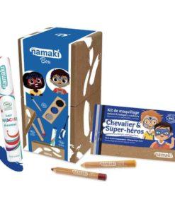 Bio face paint box for children in intergalactic worlds colours - Namaki Cosmetics