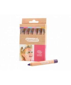 Bio face paint pencils kit for children in enchanted worlds colours - Namaki Cosmetics