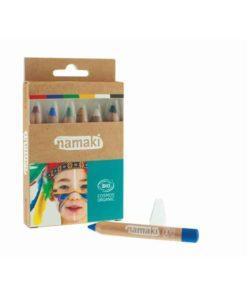 Bio face paint pencils kit for children in rainbow colours - Namaki Cosmetics