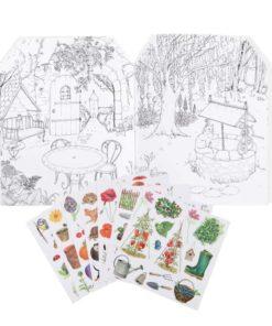 Gardener sticker book - Moulin Roty