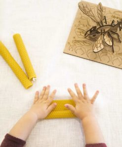 Make honeycomb candles and a 3D bee puzzle plastic-free reducing waste DIY craft kit - Lily & Mel