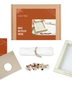 Make recycled paper plastic-free reducing waste DIY craft kit - Lily & Mel