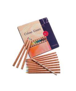 Colour giants Waldorf assortment 12 colouring pencils in tin case Mercurius