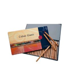 Colour giants Waldorf assortment 24 colouring pencils in tin case - Mercurius