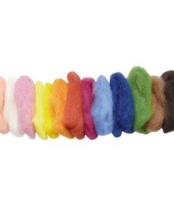 Plant dyed felting wool, 100g fairytale mix / Waldorf natural needle felting supplies - Glückskäfer