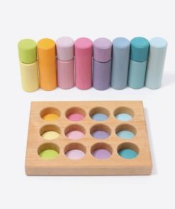 Small pastel rollers stacking game - Grimm's