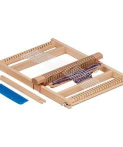 Wooden large school weaving frame (loom) / Waldorf handicraft tools - Glückskäfer