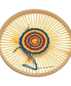 Wooden round weaving frame 22cm - Glückskäfer