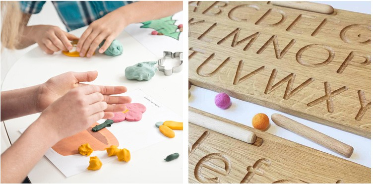 Writing and reading the two most important skills to teach a child modeling clay and tracing letters