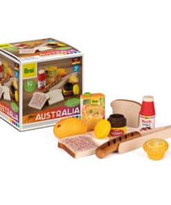 assortiment d'aliments en bois réalistes pour enfants australiens - Erzi