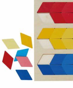 Colour puzzle nuance red yellow blue