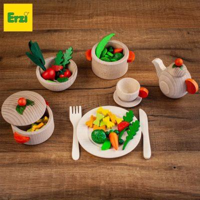 Erzi wooden food play