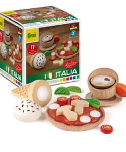assortiment d'aliments en bois réalistes pour enfants italiens - Erzi