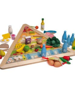 Nutrition pyramid and wooden play food - Erzi