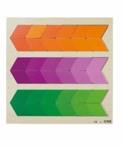 Puzzle colour nuance orange violet green