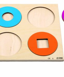 Relief puzzle discover colour and shape - circles and shapes - Rolf