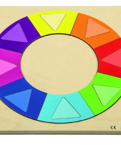 Relief puzzle discover colour and shape - rainbow circle - Rolf