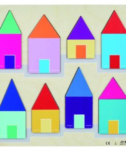 Relief puzzle discover the size - a roof over each house - Rolf