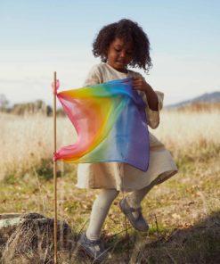 Mini Playsilk enchanted rainbow 53 x 53 cm – Sarah's Silks