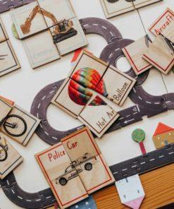 8 Transport Themed Puzzles Set - 5 Little Bears
