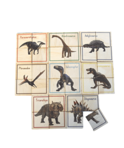 Dinosaur Themed Puzzles Set - 5 Little Bears