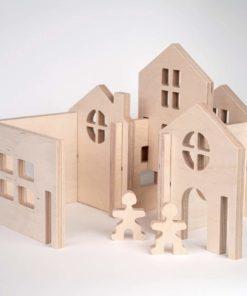 Flockmen City 8 pieces - Flockmen handmade wooden toys