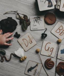 Indigenous wooden alphabet matching puzzle - 5 Little Bears