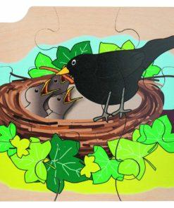 Layer puzzle growth blackbird - Rolf
