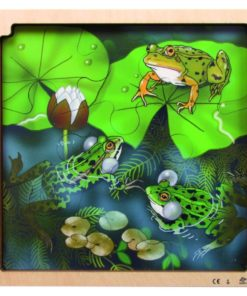 Layer puzzle life cycle: frog - Rolf
